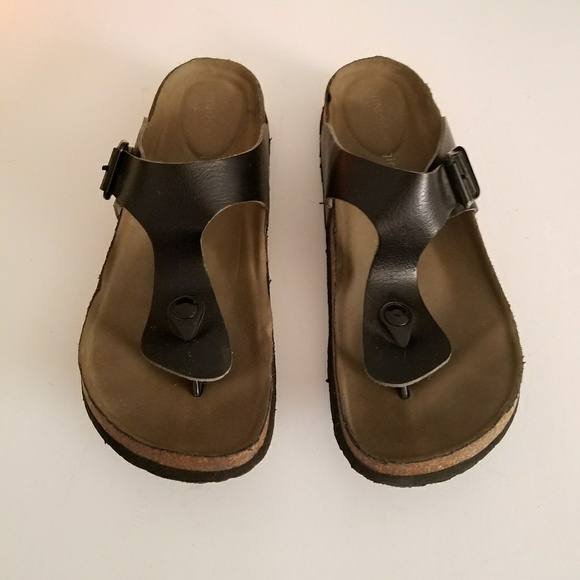 339c90a1ad620 Madden Girl Shoes - Black Boise Footbed Thong Sandals